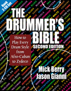 Front cover of The Drummer's Bible Second Edition