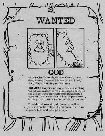 God, Wanted Poster