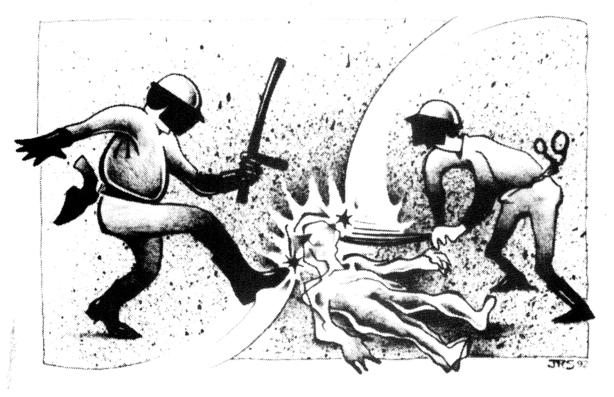 Assaulting an Officer