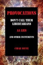 Provocations, by Chaz Bufe, front cover