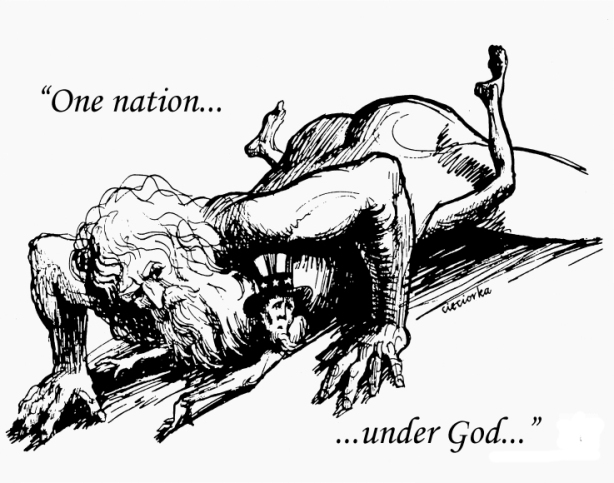 One Nation Under God Graphic from The Realist