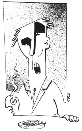 """Smoker"" illustration from The American Heretic's Dictionary"