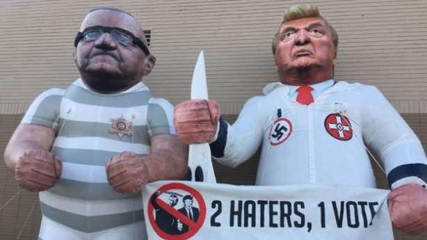 Arpaio and Trump caricatures