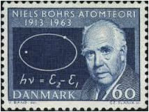 Neils Bohr on Danish postal stamp