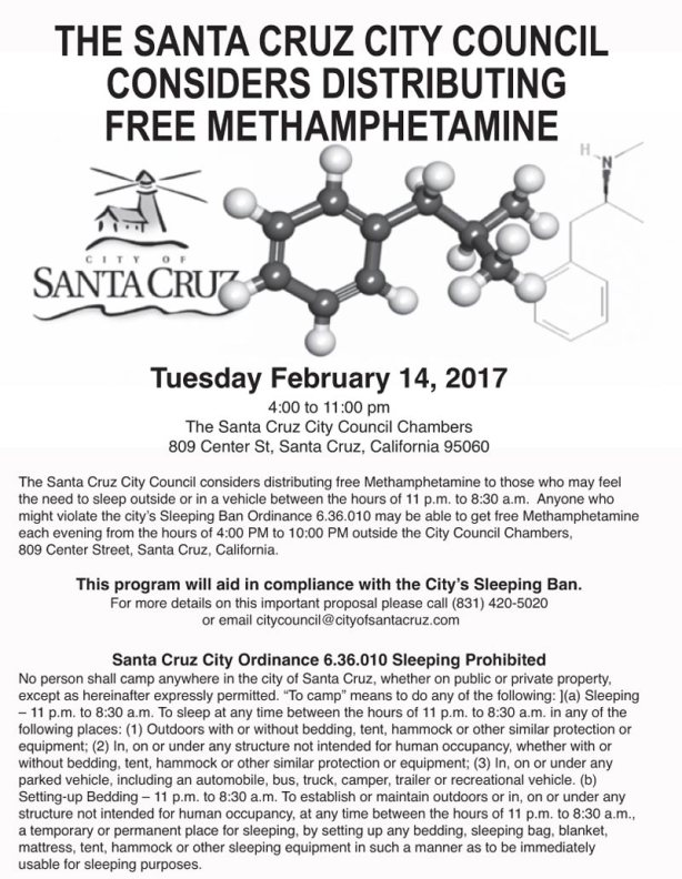 Free Meth flyer from Santa Cruz