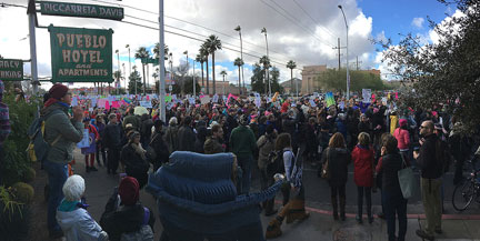 Photo of Women's March in Tucson 1-21-17, by Nicole Hennig