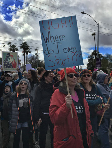 Sign from Women's Rights March 1-21-17, photo by Nicole Hennig